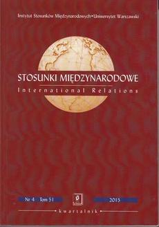 Stosunki Międzynarodowe nr 4(51)/2016 - Aleksandra Jarczewska: Stany Zjednoczone - hegemonia w regionie Azji i Pacyfiku w latach 1985-2015