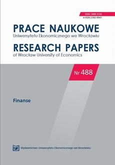 Prace Naukowe Uniwersytetu Ekonomicznego we Wrocławiu nr 488. Finanse