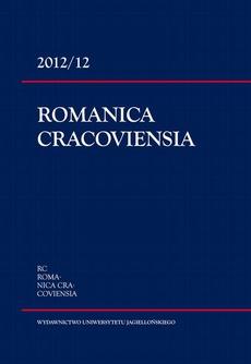 Romanica Cracoviensia 2012/12