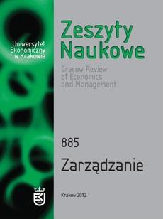 Zeszyty Naukowe Uniwersytetu Ekonomicznego w Krakowie, nr 885. Zarządzanie