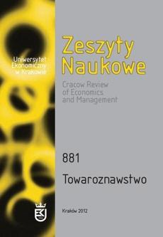 Zeszyty Naukowe Uniwersytetu Ekonomicznego w Krakowie, nr 881. Towaroznawstwo