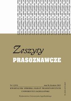 Zeszyty Prasoznawcze Nr 1 (213) 2013