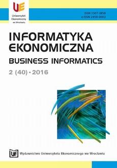 Informatyka Ekonomiczna 2(40)