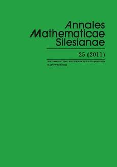 Annales Mathematicae Silesianae. T. 25 (2011)