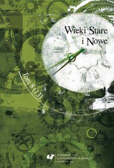 Wieki Stare i Nowe. T. 8 (13) - 08 Artykuły recenzyjne i recenzje