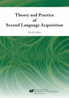 """Theory and Practice of Second Language Acquisition"" 2016. Vol. 2 (1)"