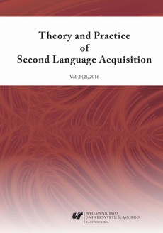 """Theory and Practice of Second Language Acquisition"" 2016. Vol. 2 (2) - 01 Another Look at the L2 Motivational Self System of Polish Students Majoring in English - Insights from Interview Data"