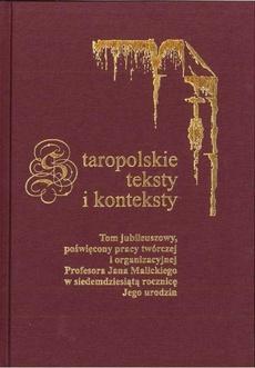 Staropolskie teksty i konteksty. T. 8 - 14 Lipy czarnoleskie, lipy borzęcińskie. Na podstawie twórczości Jana Kochanowskiego i Józefa Barana.pdf
