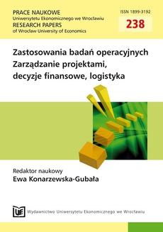 Zastosowanie badań operacyjnych. Zarządzanie projektami, decyzje finansowe, logistyka
