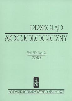 Przegląd Socjologiczny t. 59 z. 2/2010