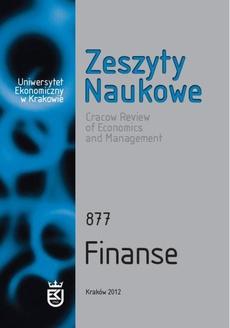 Zeszyty Naukowe Uniwersytetu Ekonomicznego w Krakowie nr 877 Finanse