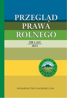 Przegląd Prawa Rolnego 1(16) 2015