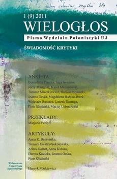 WIELOGŁOS. Pismo Wydziału Polonistyki UJ 1(9) 2011