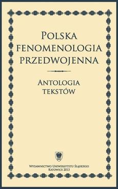 Polska fenomenologia przedwojenna