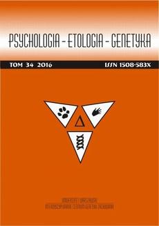 Psychologia-Etologia-Genetyka nr 34/2016