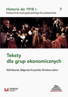 Historia do 1918 r. Teksty dla grup ekonomicznych