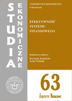 Efektywność systemu finansowego. SE 63