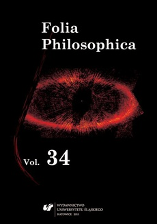 Folia Philosophica. Vol. 34. Special issue. Forms of Criticism in Philosophy and Science