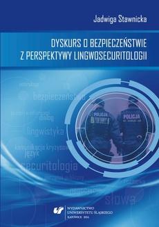 Dyskurs o bezpieczeństwie z perspektywy lingwosecuritologii