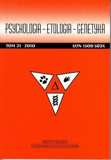 Psychologia-Etologia-Genetyka nr 21/2010