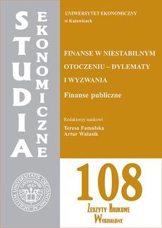 Finanse w niestabilnym otoczeniu - dylematy i wyzwania. Finanse publiczne. SE 108