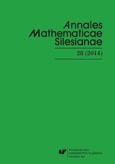 """""""Annales Mathematicae Silesianae"""". T. 28 (2014)"""