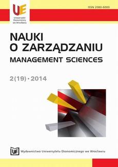 Nauki o Zarządzaniu 2014, Nr 2 (19)