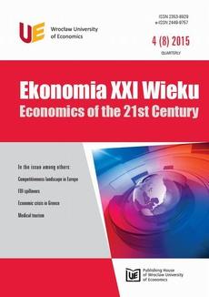 Ekonomia XXI Wieku, nr 4(8)