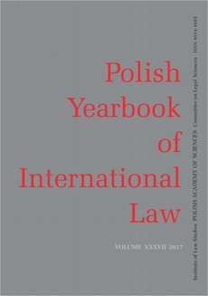 2017 Polish Yearbook of International Law vol. XXXVII