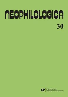"""""""Neophilologica"""" 2018. Vol. 30: Études sémantico-syntaxiques des langues romanes"""