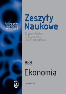 Zeszyty Naukowe Uniwersytetu Ekonomicznego w Krakowie, nr 888. Ekonomia