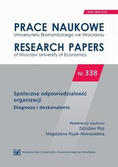 Społeczna odpowiedzialność organizacji. Diagnoza i doskonalenie. PN 338