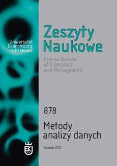 Zeszyty Naukowe Uniwersytetu Ekonomicznego w Krakowie, nr 878. Metody analizy danych