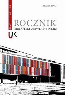 Rocznik Biblioteki Uniwersyteckiej, t.3