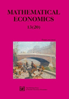 Mathematical Economics 13(20)