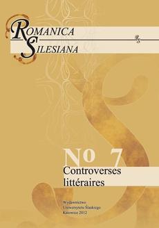 Romanica Silesiana. No 7: Controverses littéraires - 03 Dandysme ou le gout de la provocation