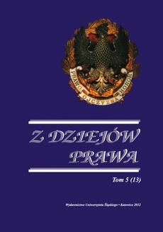 Z Dziejów Prawa. T. 5 (13) - 05 Problematyka konstrukcji prawnej organizacji administracji publicznej w doktrynach prawnoadministracyjnych przełomu XIX i XX wieku