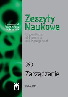 Zeszyty Naukowe Uniwersytetu Ekonomicznego w Krakowie, nr 890. Zarządzanie
