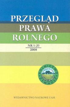 Przegląd Prawa Rolnego 1(3) 2008