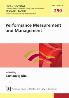Performance Measurement and Management. PN 290