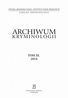 Archiwum Kryminologii tom XL 2018
