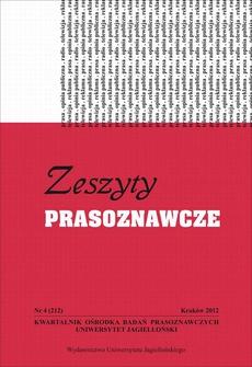 Zeszyty Prasoznawcze Nr 4 (212) 2012