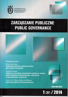 Zarządzanie Publiczne nr 1(27)/2014