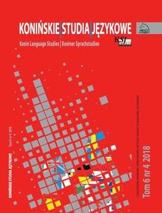 Konińskie Studia Językowe Tom 6 Nr 4 2018
