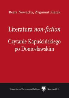 """Literatura """"non-fiction"""" - 04 Ryszard Kapuściński wobec roli korespondenta wojennego, Nota bibliograficzna, Bibliografia"""