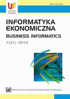 Informatyka Ekonomiczna 2014, nr 1 (31)