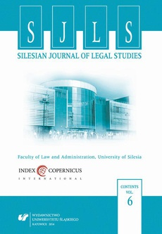 """Silesian Journal of Legal Studies"". Vol. 6"