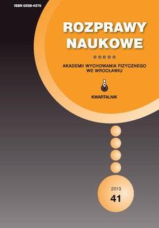 Rozprawy Naukowe Akademii Wychowania Fizycznego we Wrocławiu, 41