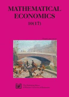 Mathematical Economics 10 (17) 2014