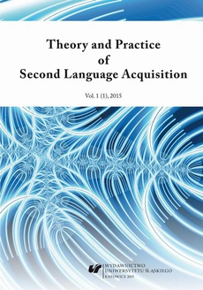 """""""Theory and Practice of Second Language Acquisition"""" 2015. Vol. 1 (1)"""